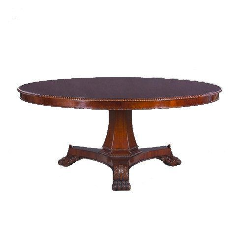 This Traditional Empire Style 72 Inch Round Mahogany Dining Table Magnificent Round Formal Dining Room Sets For 8 Inspiration