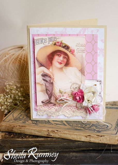 Everythings Coming Up Roses (Part 2) - Polly's Paper Studio Dream Team Feminine Cards www.sheilarumney.com