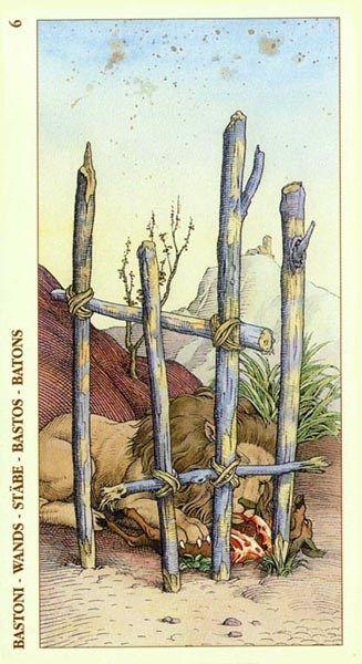 Six of Wands - Albrecht Dürer Tarot (2002) by Giacinto Gaudenzi