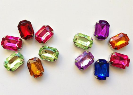 10pcs - Radiant Cut Diamond Octagon Rhinestone Crystals Diamond Decoration Beads -popolele
