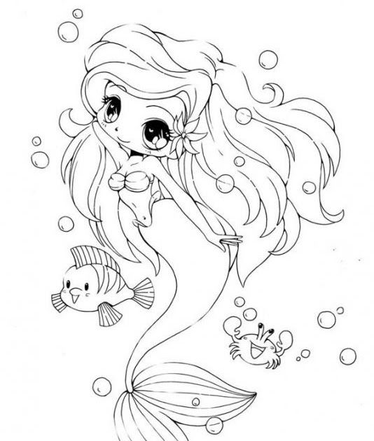 Pin By Wongru On Dolly Creppy Mermaid Coloring Pages Chibi Coloring Pages Chibi Mermaid Co Ariel Coloring Pages Unicorn Coloring Pages Mermaid Coloring Pages