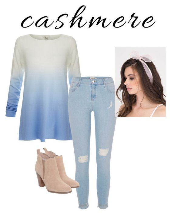 """""""Cozy Cashmere Sweaters Contest Entry"""" by girlygirl1505 ❤ liked on Polyvore featuring Joie, River Island and Michael Kors"""