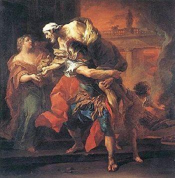 »»» Anchises starrte voll Stolz auf seinen Sohn Aeneas, einen jungen Mann...    #mythologie