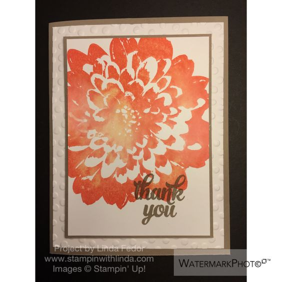Thank you water color dahlia card using stampin up definitely dahlia