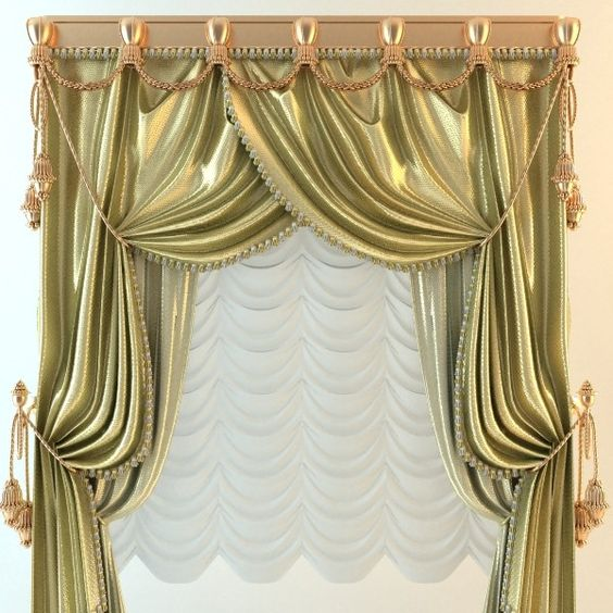 curtain elegant 3d 3ds - Elegant Baroque Wide Curtains... by ...