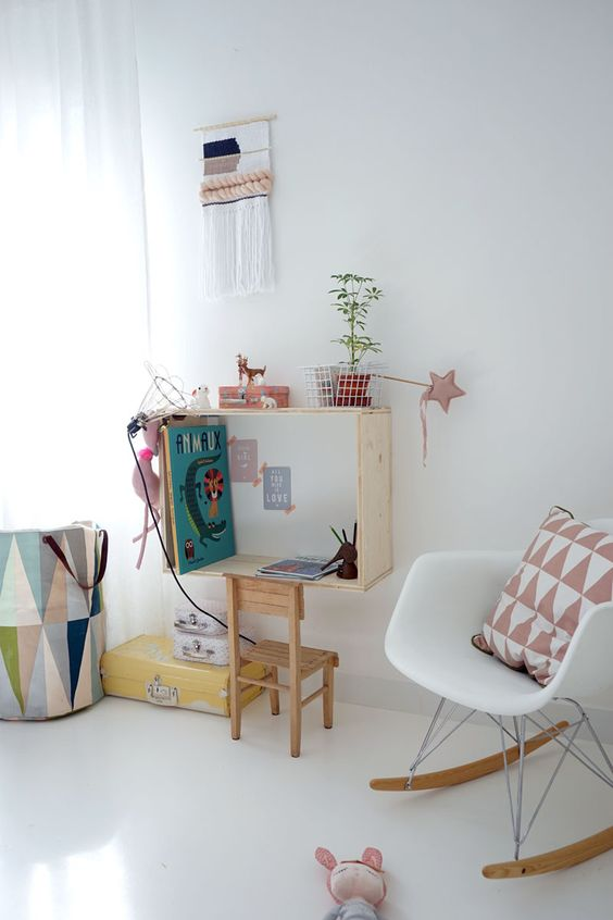 DIY : Le bureau mural en niche pour la mini: