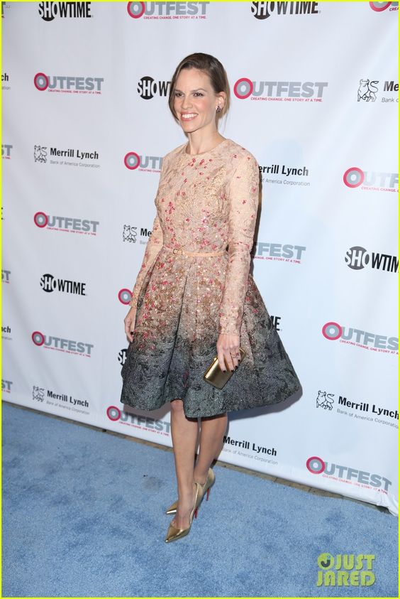 Hilary Swank Gets Honored at the Outfest Legacy Awards 2014!