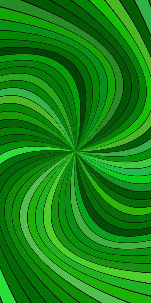 Green Hypnotic Abstract Vortex Background Vector Graphic Design