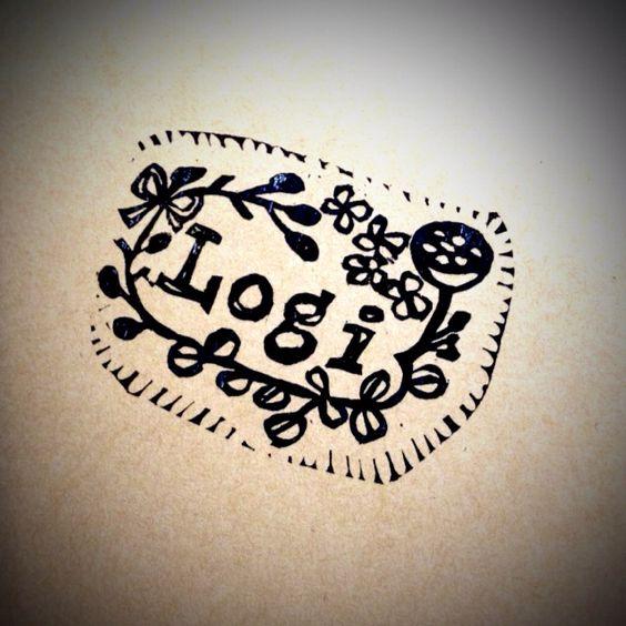 植物屋さんのロゴをデザインしてはんこにしてプレゼントしました♡
