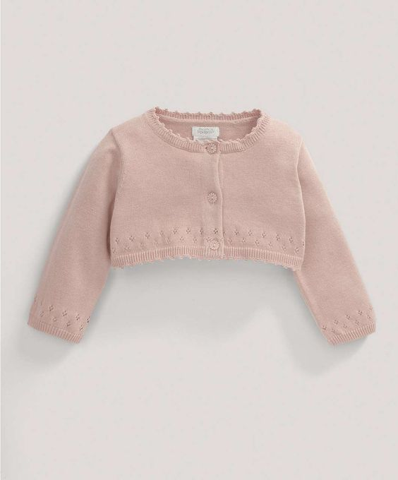 Girls Welcome to the World Pointelle Crop Cardigan - All Girls - Mamas & Papas