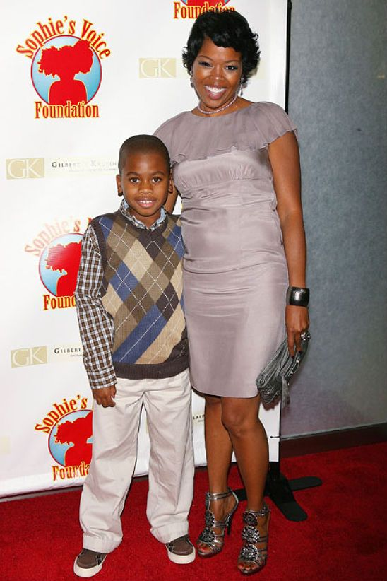 Malinda Williams and her son Omikaye,9, (dad is actor ...