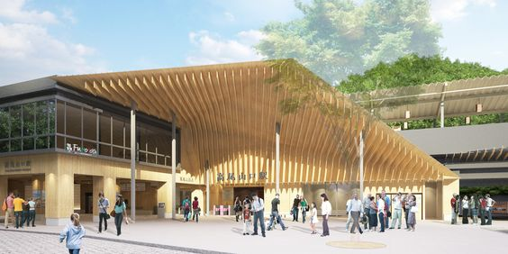 Keio Takaosanguchi Station | kengo kuma and associates