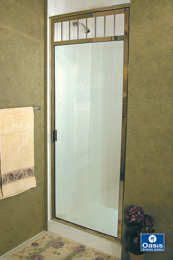 Oasis Fully framed shower doors feature plated over solid brass framing and  1/4
