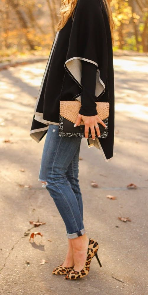 We're loving capes, ponchos, and drape cardigans for the winter season. Pair with your favorite jeans, heels, and accessories and voila!