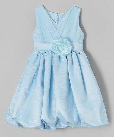 Another great find on #zulily! Blue Rosette Bubble Dress - Toddler & Girls #zulilyfinds