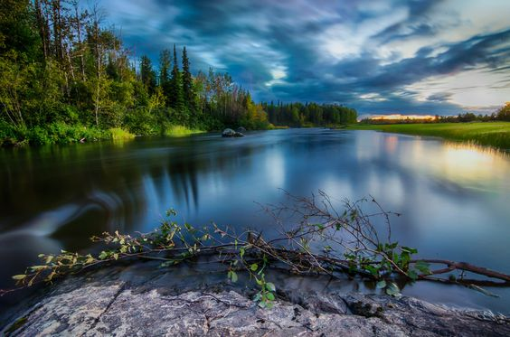 Blissful river, Northern Ontario, Canada