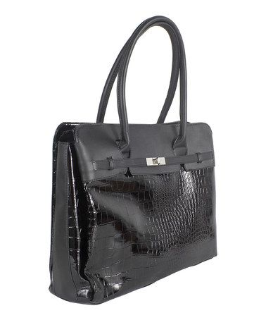 """Look at this #zulilyfind! Black Designer Fashion 15.6"""" Laptop Tote #zulilyfinds"""