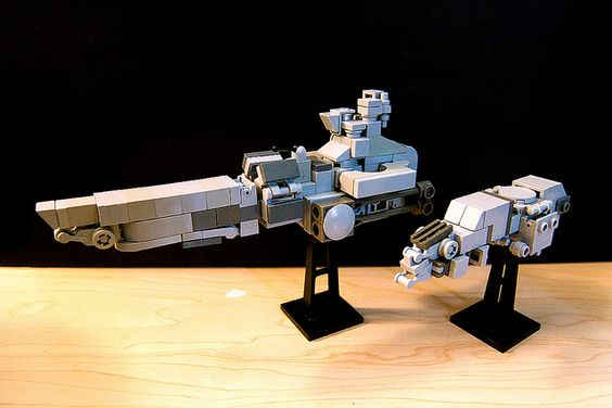 Lego miniscale Spaceships by Ingraman, via Flickr