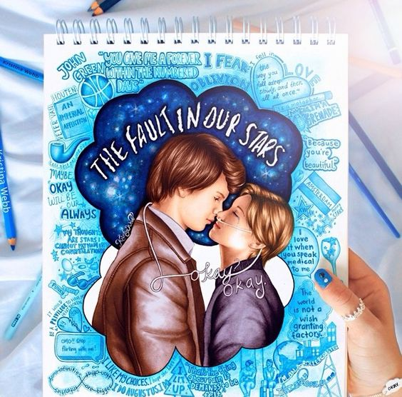 The fault in our stars drawing by Kristina Webb! Wow that's amazing I wish I could draw like that!
