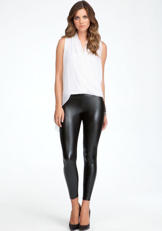 Leather Shiny Leggings
