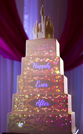 have your cake and eat it too with disney 39 s fairy tale weddings cake mapping projection designs. Black Bedroom Furniture Sets. Home Design Ideas