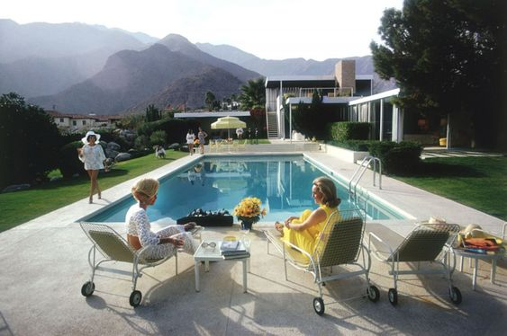 Chapman Interiors Blog I can't resist Slim Aarons' 50's poolside photos