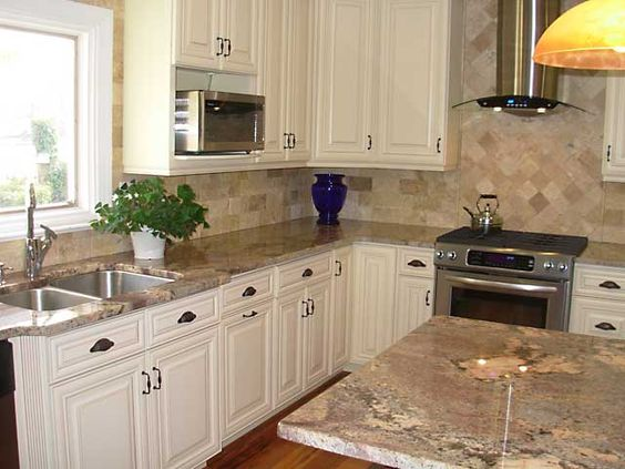 Cabinet ideas cream and maple kitchen cabinets on pinterest - How to glaze kitchen cabinets cream ...