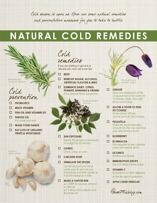 free printable checklist - natural cold remedies and prevention