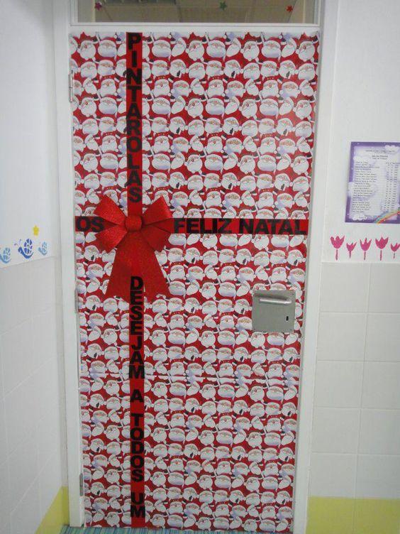 Decoracion puerta de navidad navidad pinterest navidad - Adornos navidenos puertas ...