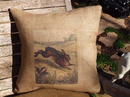 RUPiper Designs: rabbit pillow