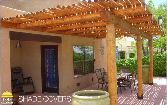 Attached southwest style pergola landscaping for Southwest pergola