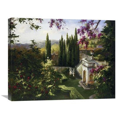 Global Gallery 'Mystic Garden II' by Gabriela Painting Print on Wrapped Canvas Size: