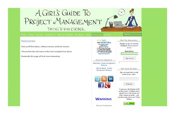 A Girl's Guide to Project Management (blog)  |  http://www.pm4girls.elizabeth-harrin.com/