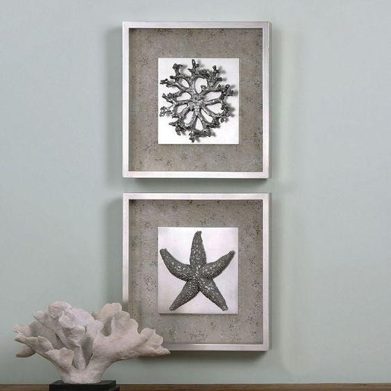 Starfish & Coral Framed Wall Art 2-piece Set ($417) ❤ liked on Polyvore featuring home, home decor, wall art, multicolor, colorful wall art, wall home decor, coral wall art, 2 piece wall art and twin pack