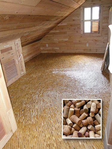 Wine Cork Floor, drink and then build.