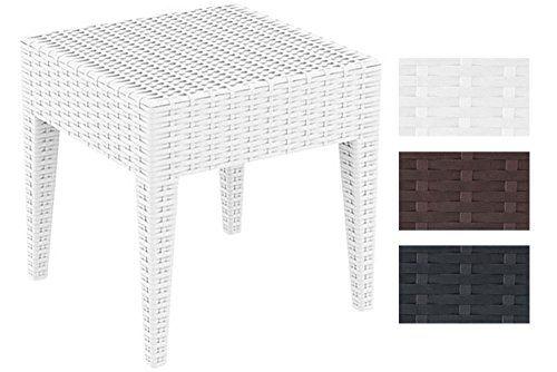 Clp Gartentisch Miami Aus Polyrattan I Beistelltisch Aus Hochwertigem Kunststoffgeflecht I Stapelbarer Tisch In Rattan Optik I In Gartentisch Gartenmobel Mobel