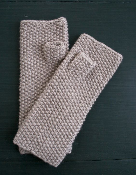 Knitting Stitch Embroidery Patterns : Whits Knits: Seed Stitch Mittens and Hand Warmers - Purl Soho - Knitting...