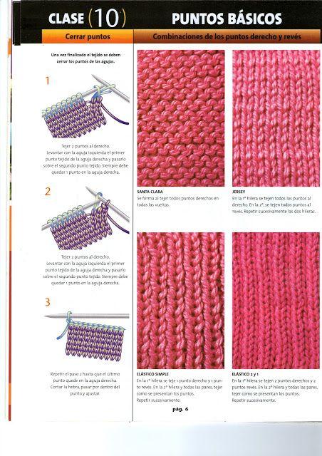 Fanatica del tejido dos agujas paso a paso 1 calados - Tejidos en dos agujas paso a paso ...
