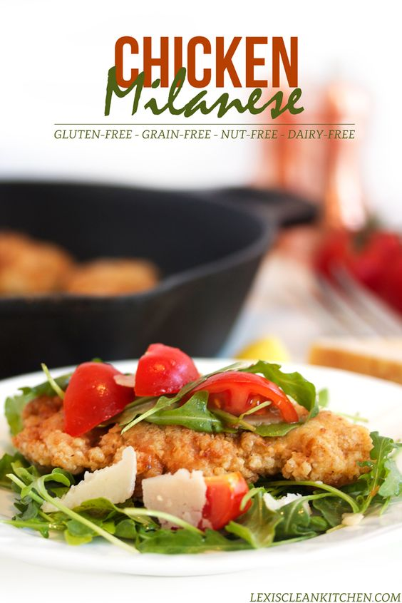 Chicken Milanese {with Crispy Fried Chicken} Gluten-free, dairy-free ...