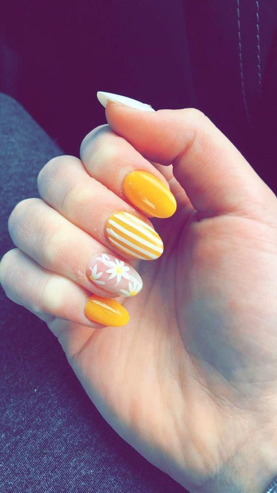 Whether You Like Long Or Short Nails Acrylic Or Gel Nails French Or Coffin Nails Matte Or Glitter Nails Yo Almond Nail Art Yellow Nails Design Yellow Nails