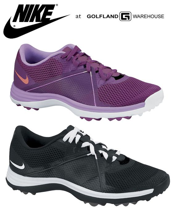 Comfort meets performance for these Nike Lunar Summerlite 2 shoes for women! You'll find a glove like fit perfect for the hot golf rounds! #nike #nikelunar #black #purple #golfshoes