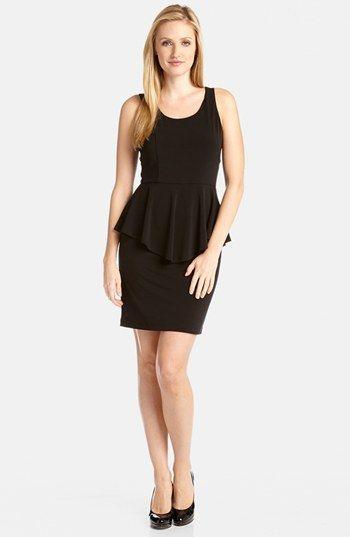 Karen Kane 'Megan' Peplum Travel Dress available at #Nordstrom