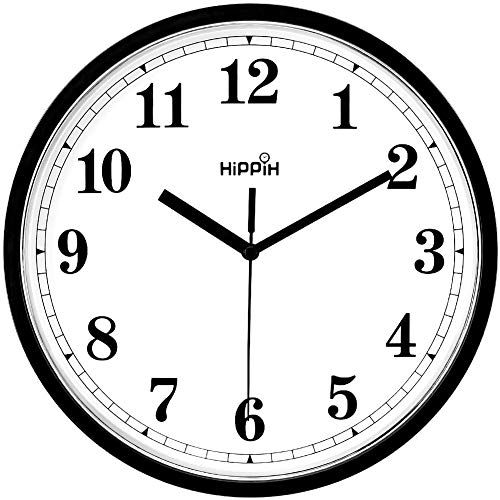 Coindivi Black Wall Clock Silent Non Ticking Quality Quartz Battery Operated Wall Clock 10 Inch Round Easy To In 2020 Black Wall Clock Wall Clock Silent Wall Clock