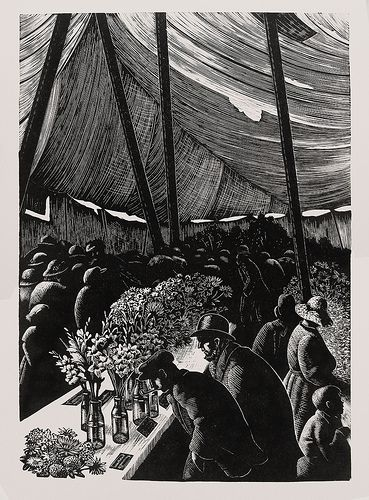 """Clare Leighton """"Country Matters"""" Illustration (Wood Engraving - 1937)"""
