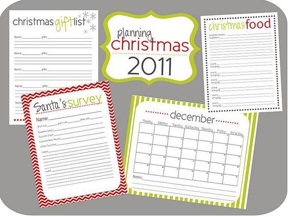 Christmas planner!