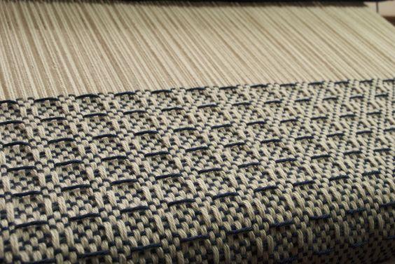 Waffle weave on rigid heddle loom by Kelly Casanova.