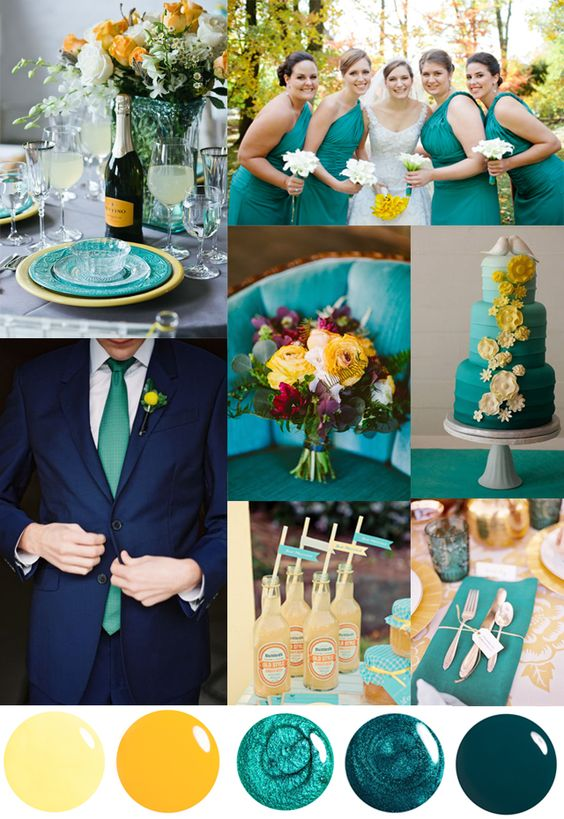 Best ideas about Wedding Colors Teal And Yellow, Yellow