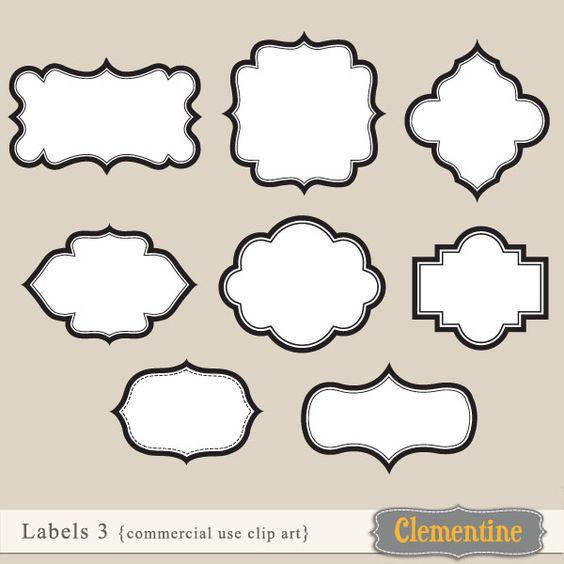 Plaque Shape Clip Art Making cards, clip art and shape on pinterest