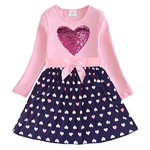VIKITA Toddler Girl Clothes Short Sleeve Summer Dresses for Girls Kids 2-8 Years