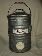 Vintage 3 gallon igloo drink cooler bottoms up - Igloo vintage ...